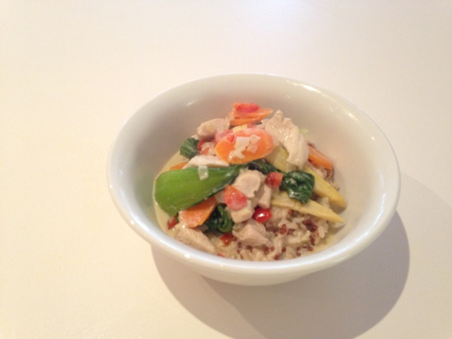 Thai Green Curry Chicken with Brown Rice & Quinoa